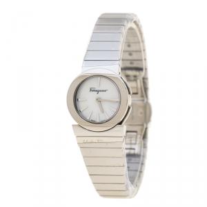 Salvatore Ferragamo Mother of Pearl Stainless Steel F70 Women's Wristwatch 24 mm