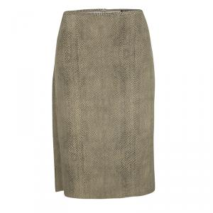 Salvatore Ferragamo Vintage Brown Printed Skirt L