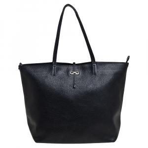 حقيبة يد سالفاتوري فيراغامو جينا جلد أسود