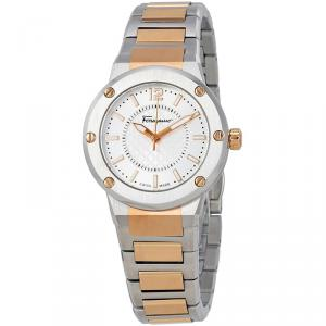 Salvatore Ferragamo Silver Stainless Steel F-80 Women's Wristwatch 33MM