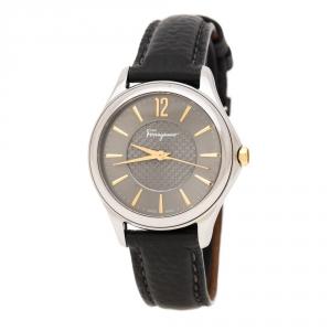 Salvatore Ferragamo Silver Grey Stainless Steel FFV010016 Women's Wristwatch 33 mm