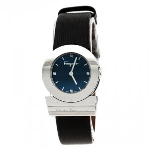 Salvatore Ferragamo Black Stainless Steel Gancino F56 Women's Wristwatch 29 mm