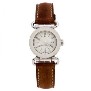 Salvatore Ferragamo White Stainless Steel 0125 Women's Wristwatch 25 mm