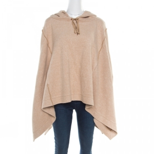 See by Chloe Camel Brown Hooded Poncho L