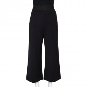 Self Portrait Black Crepe Natasha Wide Leg Culottes S