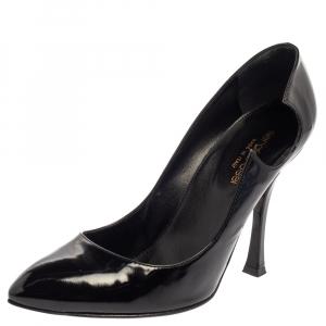 Sergio Rossi Black Patent Leather Pumps Size 38