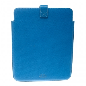 Smythson Powder Blue Leather Ipad Case