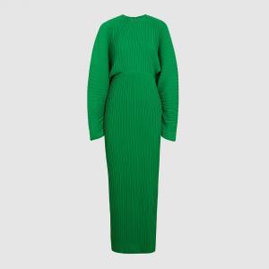 Solace London Green Mirabelle Plissé Batwing Maxi Dress UK 14