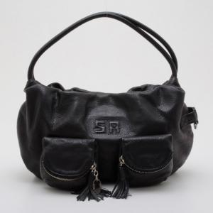 Sonia Rykiel Black Leather 'Charming' Hobo