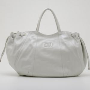 Sonia Rykiel Perle Leather Drawstring Shopping Tote