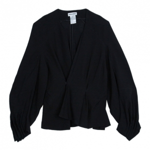 Sonia Rykiel Black Knit Jacket L