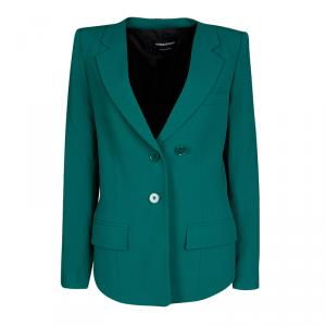 Sonia Rykiel Emerald Green Tailored Blazer S