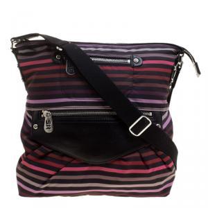 Sonia Rykiel Striped Multicolor Nylon Messenger Bag