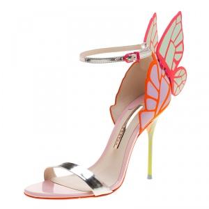 Sophia Webster Multicolor Leather Chiara Butterfly Wing Open Toe Sandals Size 37