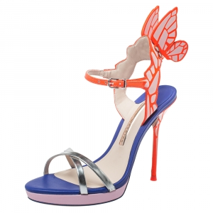 Sophia Webster Multicolor Leather Chiara Wing Sandals Size 36 - used