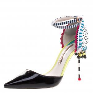 Sophia Webster Multicolor Leather Xavier Ankle Strap D'orsay Pumps Size 37