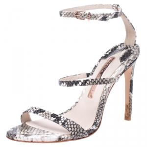Sophia Webster Multi-color Python Embossed Leather Rosalind Ankle Strap Sandals Size 36 - used