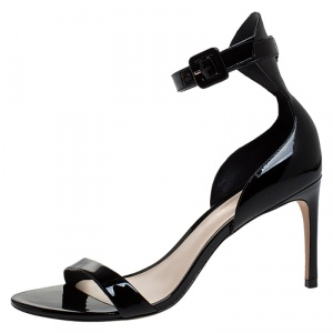 Sophia Webster Black Patent Leather Nicole Sandals Size 39.5
