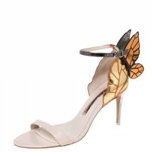 Sophia Webster Multicolor Leather Chiara Wings Ankle Strap Sandals Size 38.5