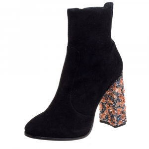 Sophia Webster Black Suede Kendra Ankle Boots Size 41.5 - used
