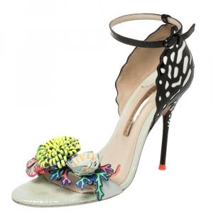 Sophia Webster Multicolor Patent Leather Lilico Ankle Strap Sandals Size 38.5