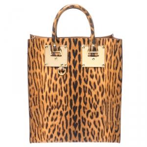 حقيبة سوفيا هولم ألبيون جلد نقشة الفهد بني/أسود