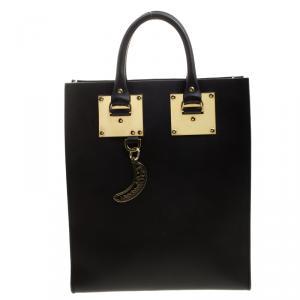 حقيبة يد سوفي هولم البيون جلد سوداء