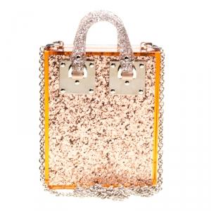 حقيبة كروس سوفي هولم كومبتون بلاستيك غليتر بنية شفافه