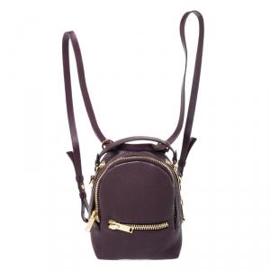 حقيبة ظهر سوفي هولم ويلسون ميني جلد بنفسجية