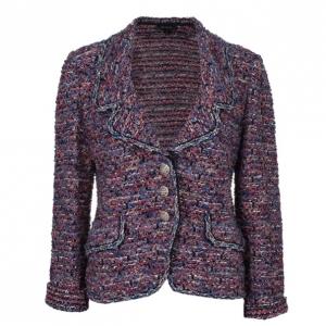 St. John Pink Tweed Knit Jacket L