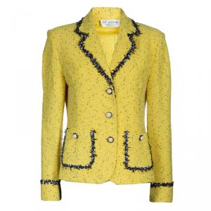 St. John Yellow Tweed Jacket M
