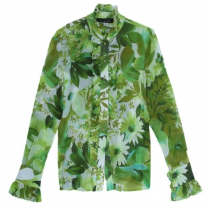 St. John Couture Floral Shirt S