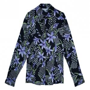 St. John Silk Floral Shirt L