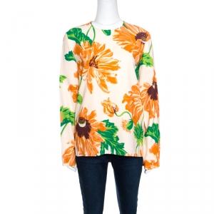 Stella McCartney Multicolor Large Poppy Printed Louisa Blouse S -