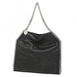 """حقيبة يد ستيلا مكارتني """"فالابيلا"""" سلسلة جلد أسود"""