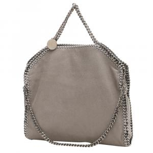 Stella McCartney Grey Leather Chain Falabella Tote Bag