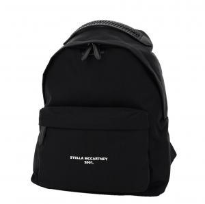 """حقيبة ظهر ستيلا مكارتني """"جو"""" شعار الماركة نايلون أسود"""