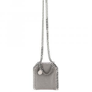 Stella McCartney Grey Leather Falabella Micro Tote Bag