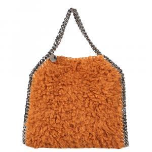 Stella McCartney Orange Fur Falabella Mini Tote Bag