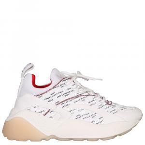 حذاء رياضي ستيلا مكارتني أكليبس جلد أبيض مقاس 35