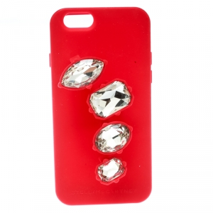 Stella McCartney Red Rubber Crystal Four Finger Ring iPhone 6 Case - used