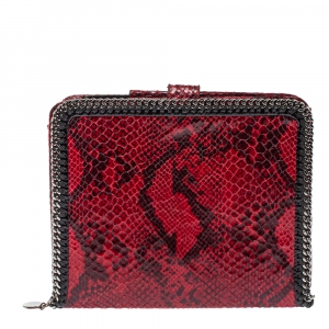 Stella McCartney Red Python Print Faux Leather Falabella iPad Holder - used
