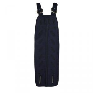 Stella McCartney Navy Blue Cutout Detail Zigarette Embroidered Ashley Drill Dress M - used