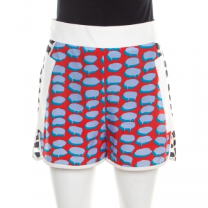 Stella McCartney Multicolor Speech Balloon Printed Shorts S - used