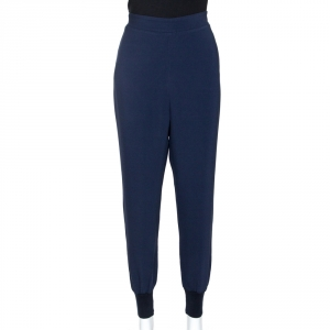 Stella McCartney Midnight Blue Stretch Crepe Julia Trousers M - used