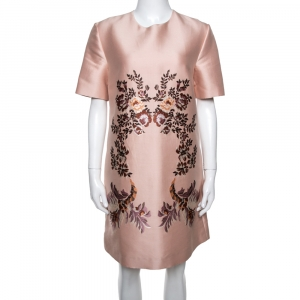 Stella McCartney Peach Laycie Floral Embroidered Shift Dress M - used