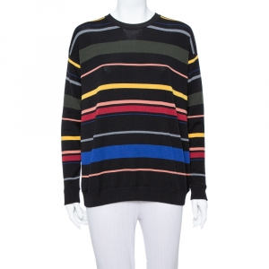Stella McCartney Black Striped Wool Oversized Sweater S - used