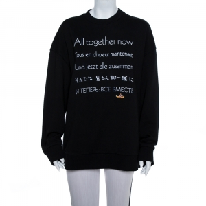 Stella McCartney The Beatles Black Cotton All Together Now Embroidered Sweatshirt M - used