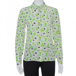 Stella McCartney Multicolor Floral Printed Silk Long Sleeve Eva Shirt S - used