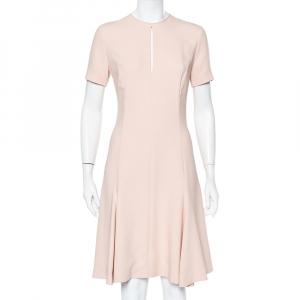 Stella McCartney Light Pink Crepe Keyhole Neck Detail Skater Dress S - used